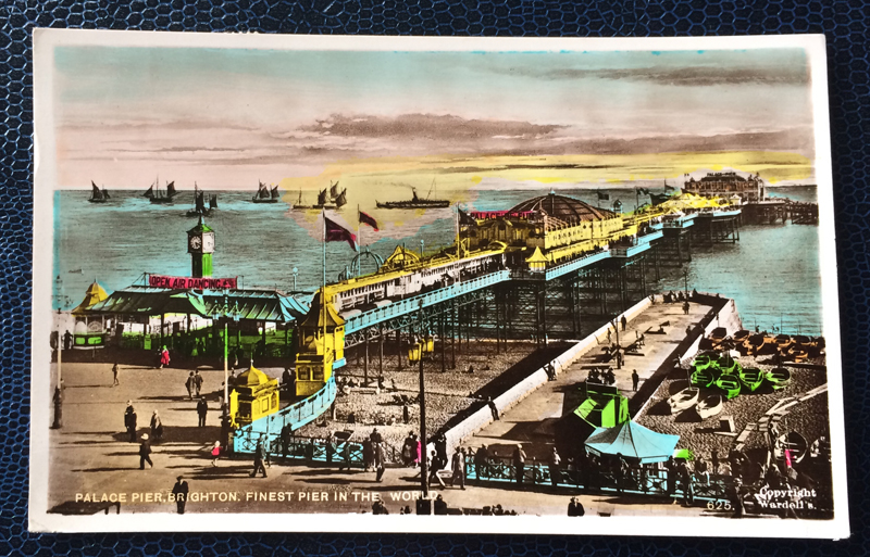 Project Postcard July 1953 Palace Pier Brighton