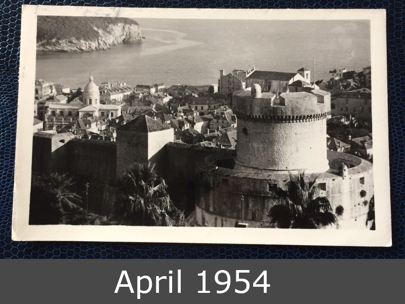 Project Postcard March 1954 Project Postcard April 1954 Dubrovnik Jugoslavija front
