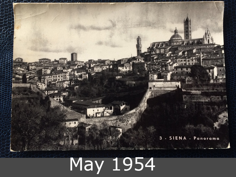 Project Postcard March 1954 Project Postcard May 1954 Siena Italy front