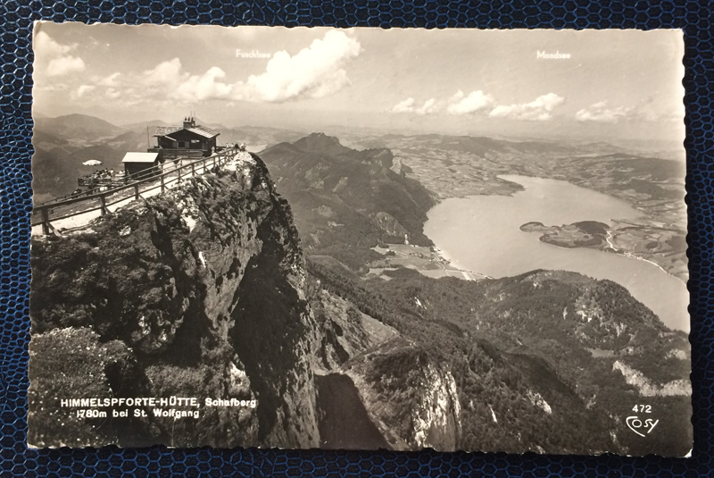 Project Postcard March 1954 Project Postcard July 1954 Himmelspforte Schafberg Austria
