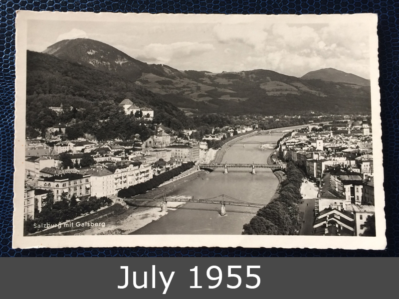 Project Postcard July 1955 Project Postcard July 1955 Salzburg Austria front