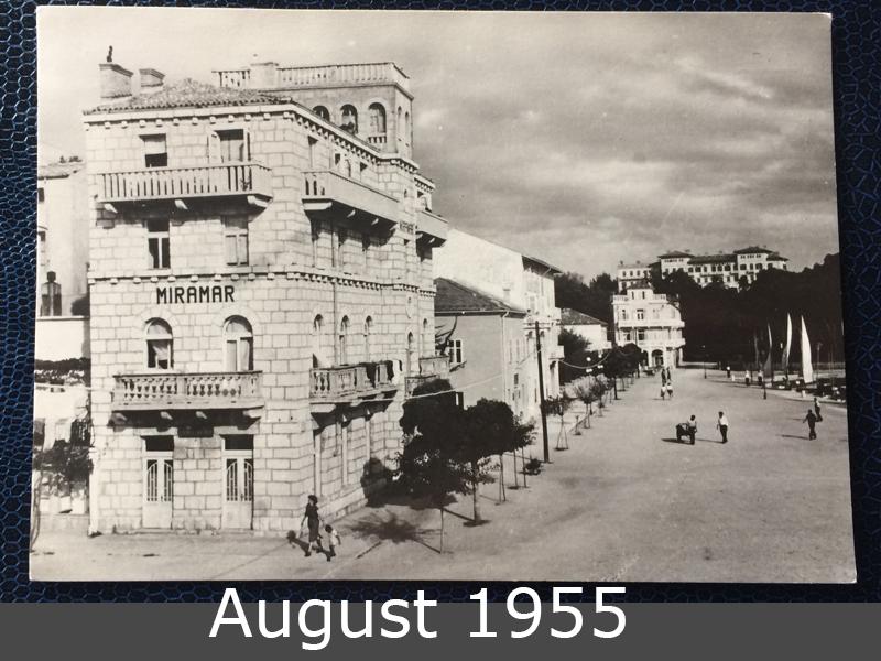 Project Postcard August 1955 Rab Jugoslavija front
