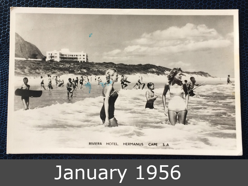 Project Postcard January 1956 Beachgirls Hermanus Cape South Africa front