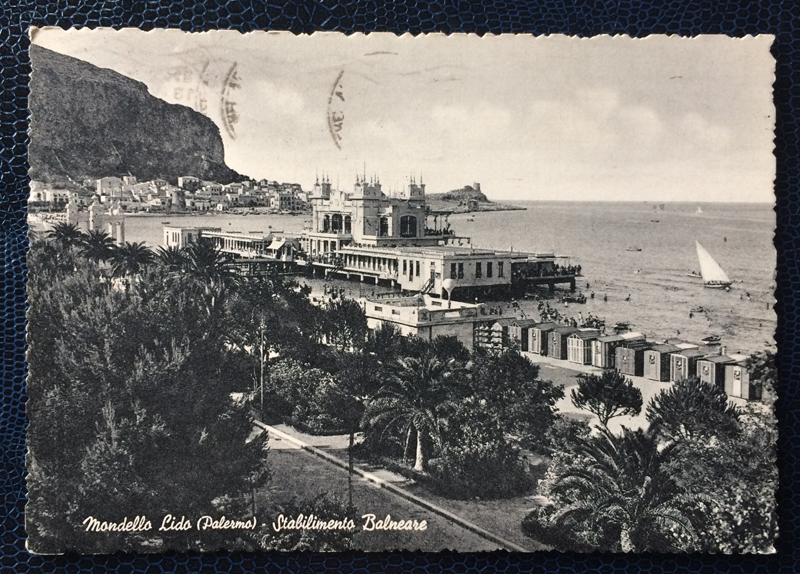 Project Postcard June 1956 Mondello Lido Palermo Italy