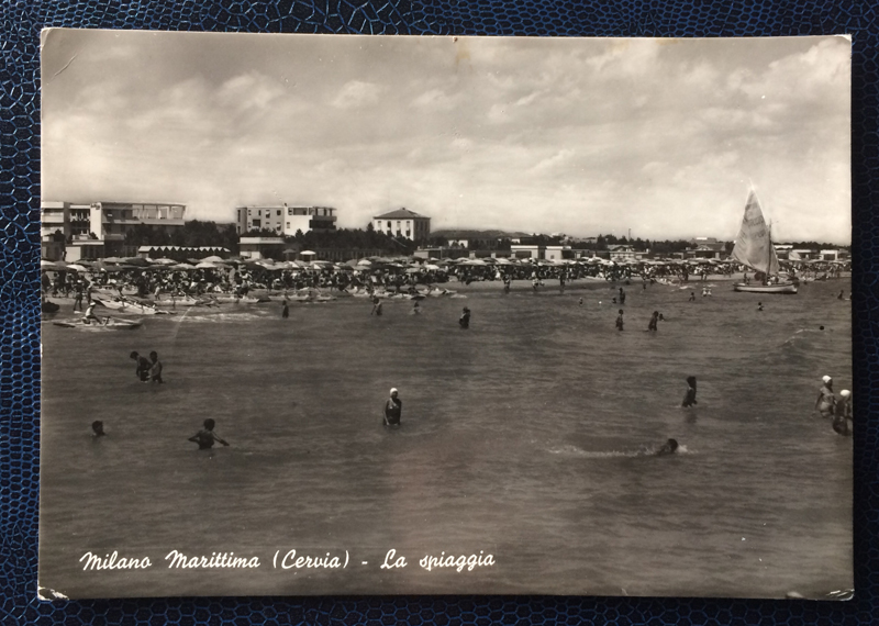 Project Postcard July 1956 Milano Marittima Cervia Italy