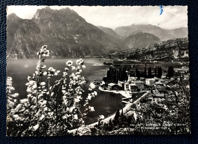 Project Postcard April 1957 Torbole Lake Garda