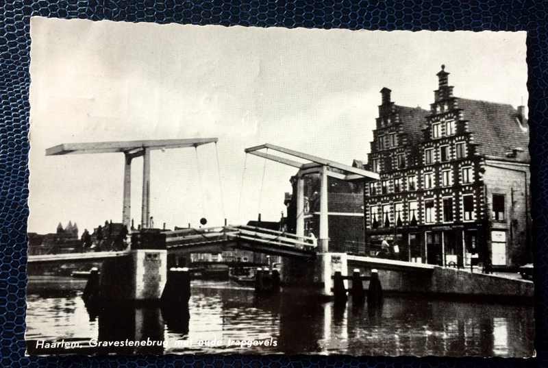Project Postcard July 1957 Canal Haarlem Netherlands