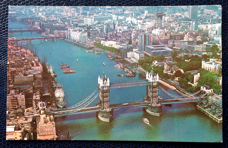 Project Postcard June 1970 Tower Bridge and City of London