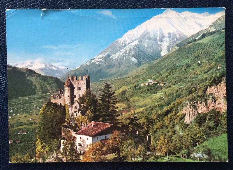 Project Postcard August 1970 Meran Castle Fontana Schloss Brunnenburg