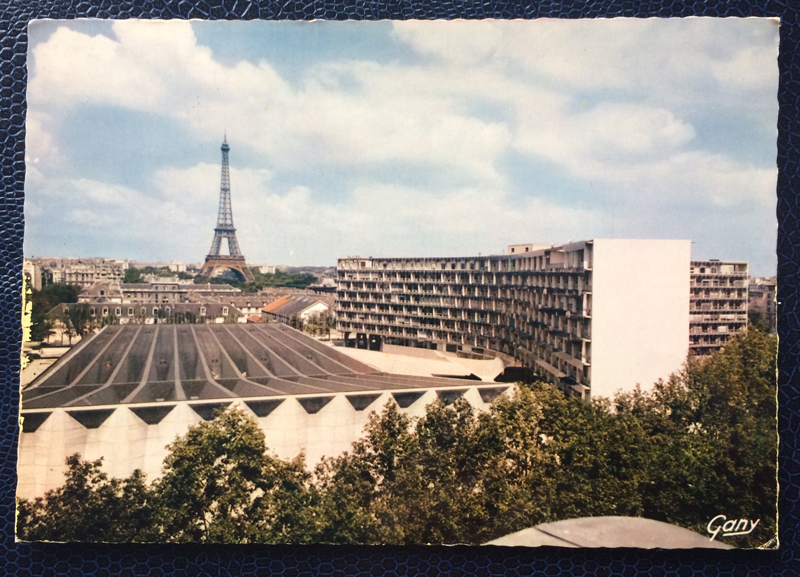 Project Postcard October 1970 Paris Tours Eiffel and Unesco building