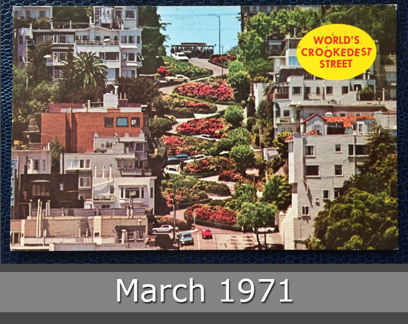 Project Postcard March 1971 San Francisco Lombard Street front