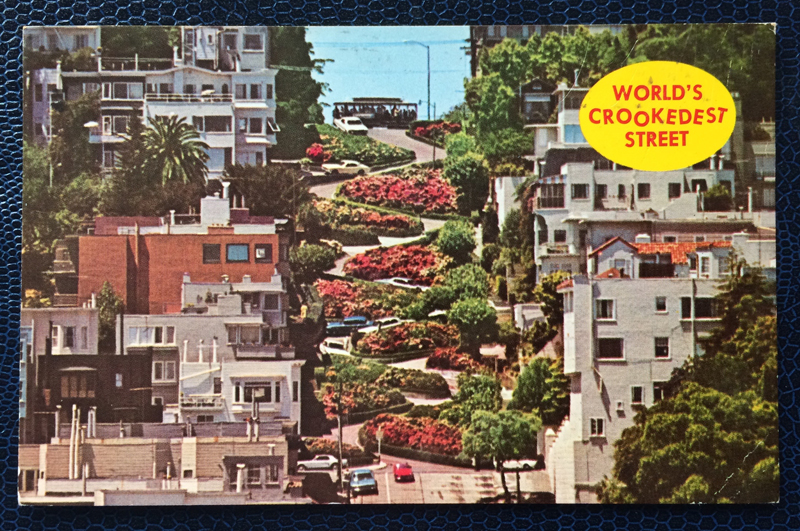 Project Postcard March 1971 San Francisco Lombard Street