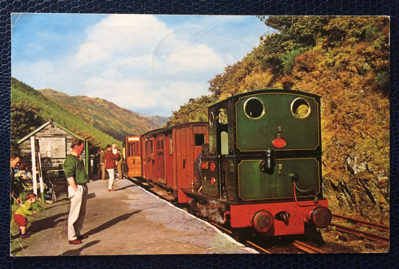 Project Postcard September 1971 Taly Y Llyn railway train