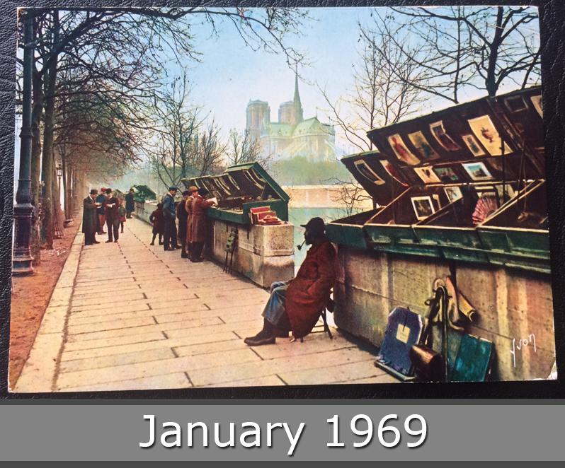 Project Postcard January 1969 January Paris Les Bouquinistes La Seine front