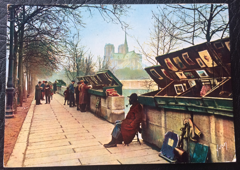 Project Postcard January 1969 January Paris Les Bouquinistes La Seine