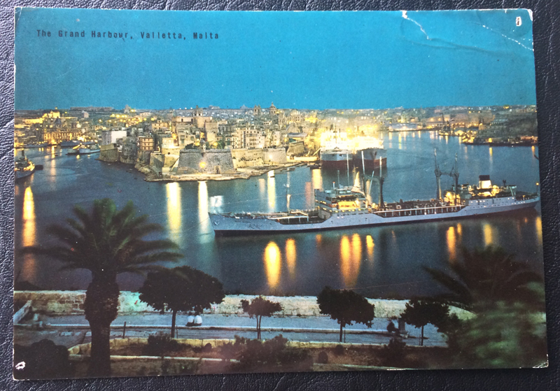 Project Postcard April 1969 Grand Harbour Valletta Malta Mediterranean