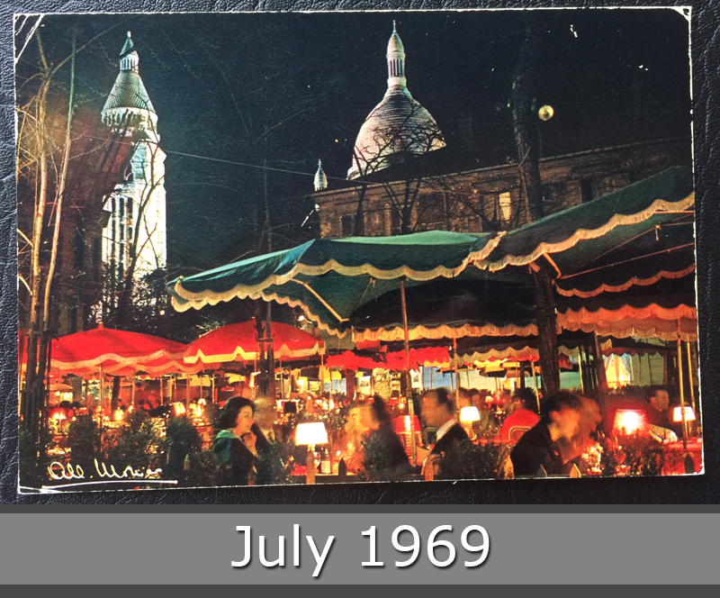 Project Postcard July 1969 Montmartre in Paris France front