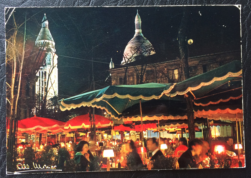 Project Postcard July 1969 Montmartre in Paris France
