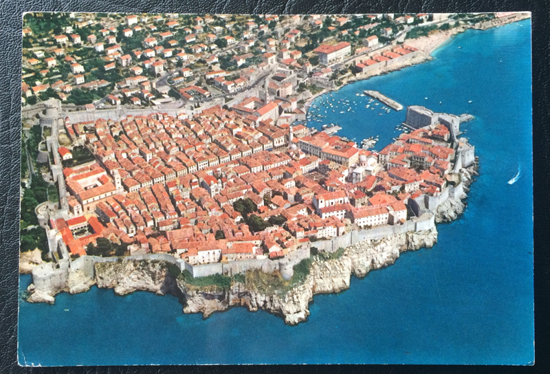 Project Postcard August 1971 Dubrovnik Jugoslavija from a bird's eye view