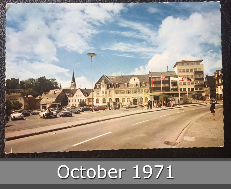 Project Postcard October 1971 Kastellaun marketplace front