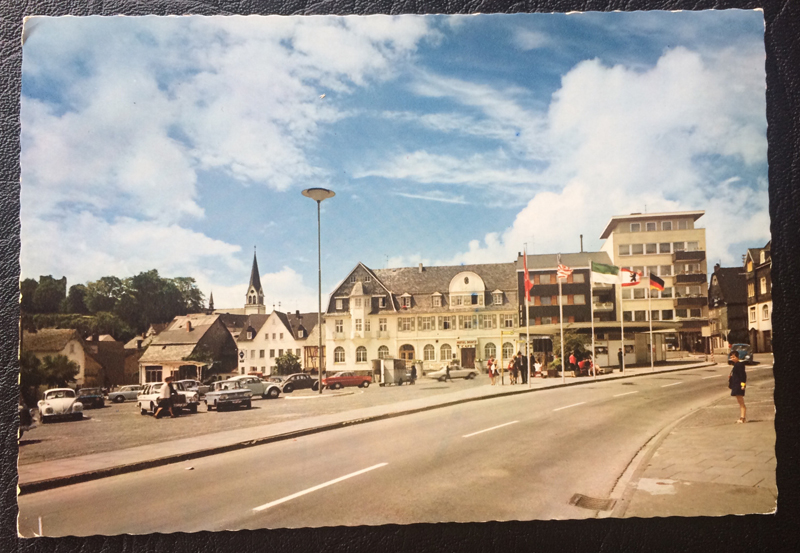 Project Postcard October 1971 Kastellaun marketplace