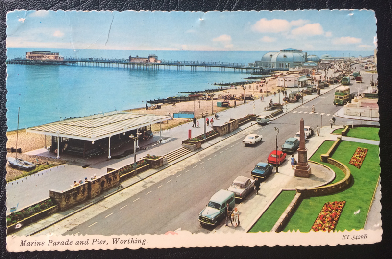 Project Postcard October 1971 Marine Parade and Pier Worthing