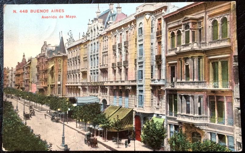 Project Postcard March 1914 Buenos Aires Argentina Avenida de Mayo