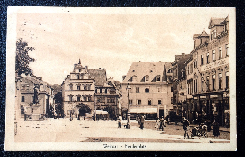 Project Postcard August 1914 Weimar Herderplatz