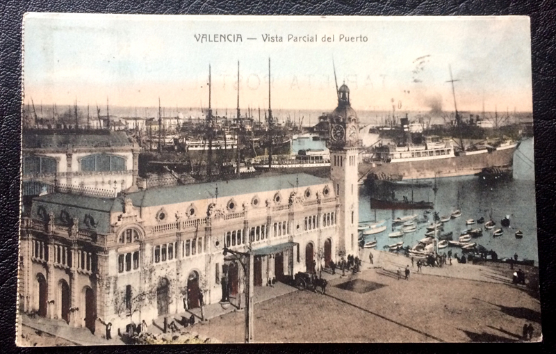 Project Postcard March 1925 Valencia Seaport