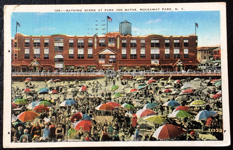 Project Postcard July 1939 Rockaway Park N.Y. bathing scene