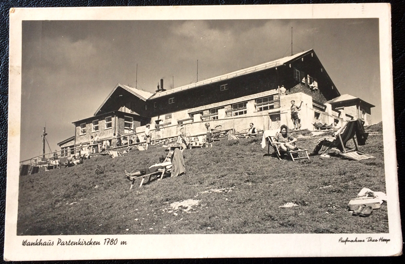Project Postcard August 1940 Garmisch-Partenkirchen Bavaria Alps Wankhaus