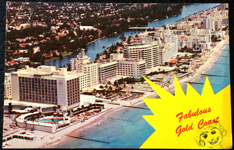 Project Postcard May 1965 Miami Beach ocean front