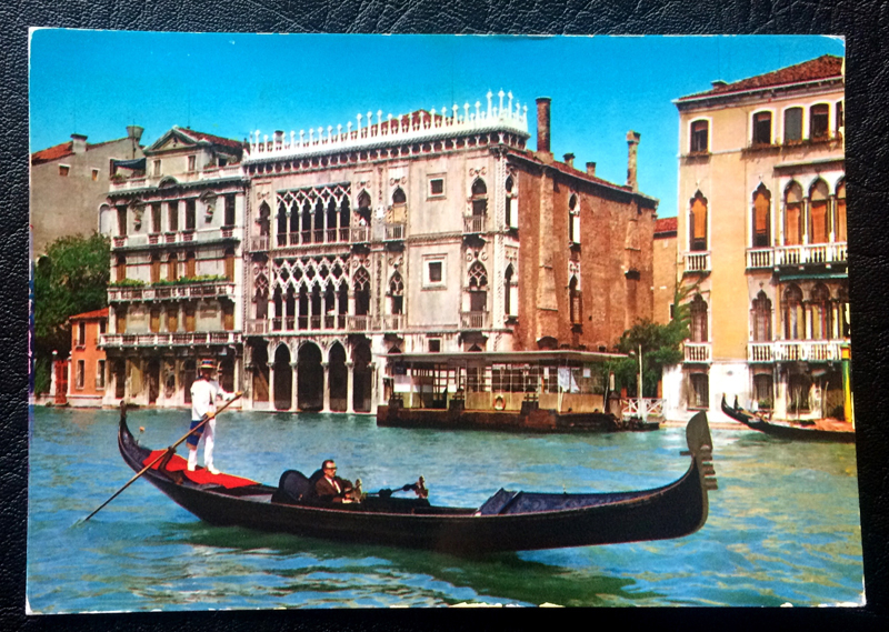 Project Postcard June 1965 The Grand Canal in Venice Italy