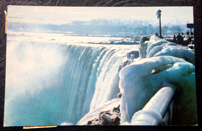 Project Postcard January 1968 Horseshoe Falls in Winter Canada