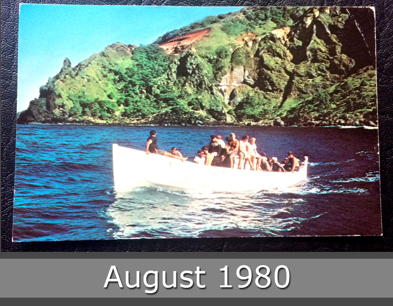 Project Postcard August 1980 out from the Bounty Bay Pitcairn Islands front
