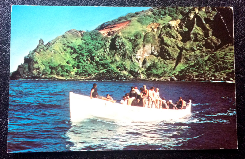 Project Postcard August 1980 out from the Bounty Bay Pitcairn Islands
