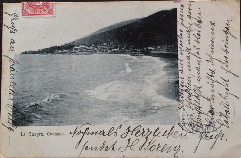 Project Postcard February 1904 La Guayra Curacao front