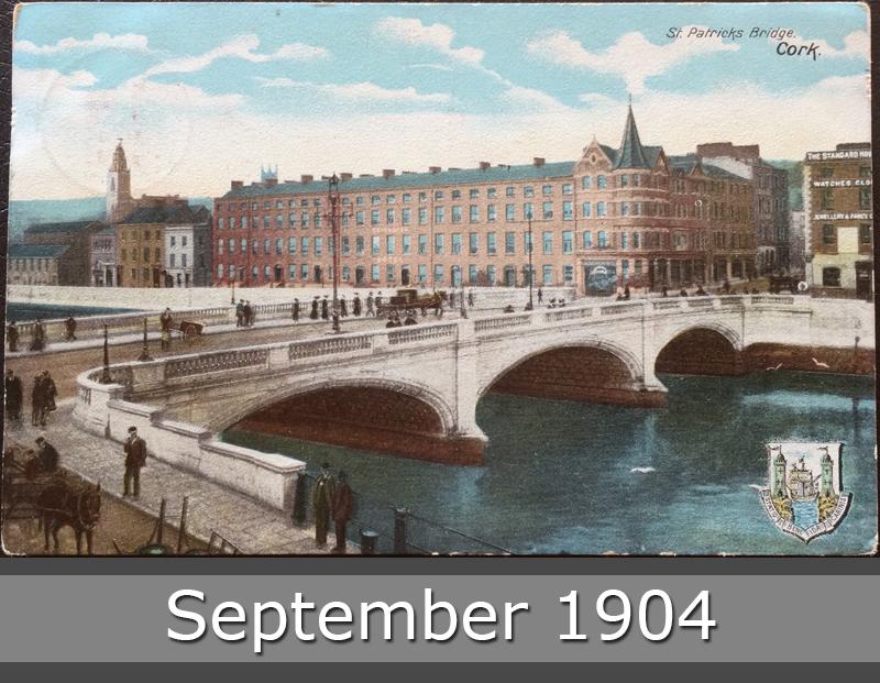 Project Postcard September 1904 Cork St. Patricks Bridge Great Britain UK