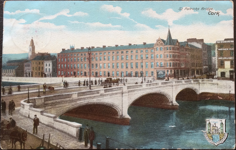 Project Postcard September 1904 Cork St. Patricks Bridge Great Britain UK front