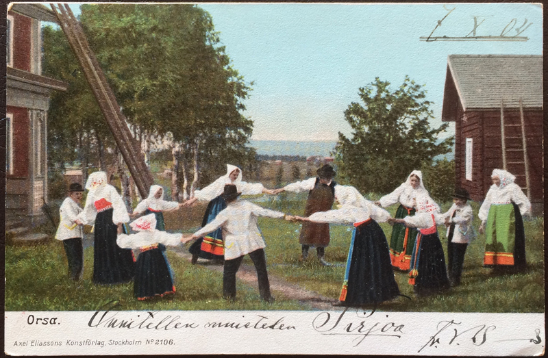 Project Postcard October 1904 Orsa Sweden Dancer