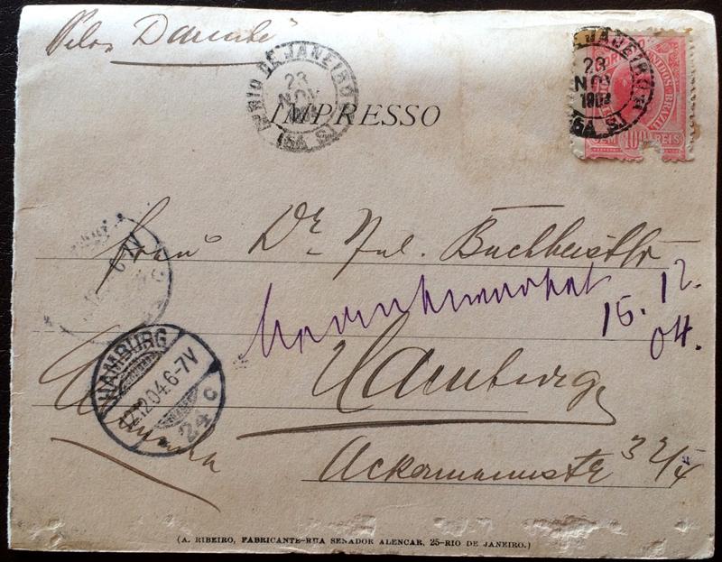Project Postcard November 1904 Entrada da Barra do Rio de Janeiro back