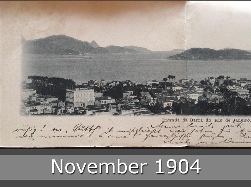 Project Postcard November 1904 Entrada da Barra do Rio de Janeiro front