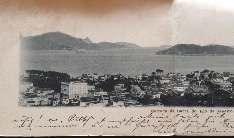 Project Postcard November 1904 Entrada da Barra do Rio de Janeiro