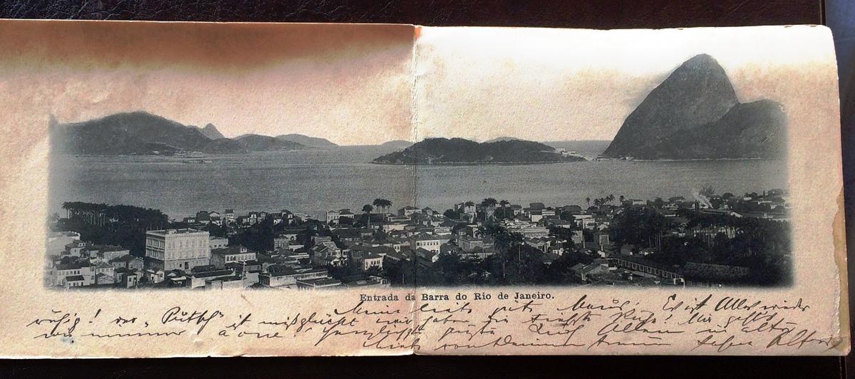Project Postcard November 1904 Entrada da Barra do Rio de Janeiro complete
