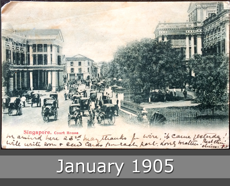 Project Postcard January 1905 Singapore Court House front