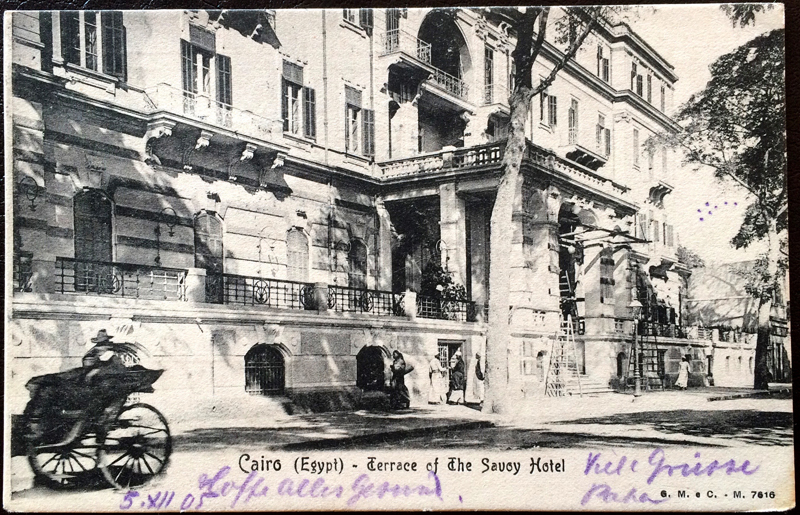 Project Postcard December 1905 Cairo Egypt The Savoy Hotel