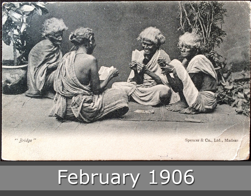 Project Postcard February 1906 Indian women playing bridge in Madras front