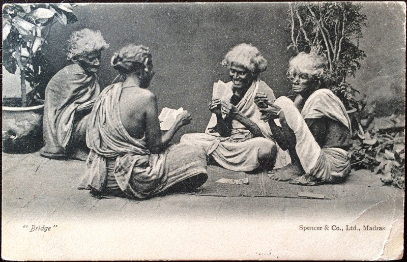Project Postcard February 1906 Indian women playing bridge in Madras
