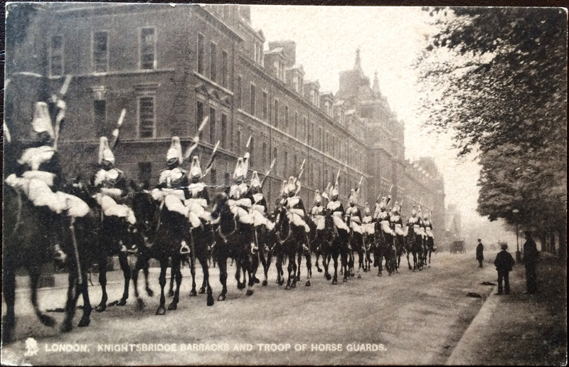 Project Postcard June 1906 London Knightsbridge barracks and troop of horse guards
