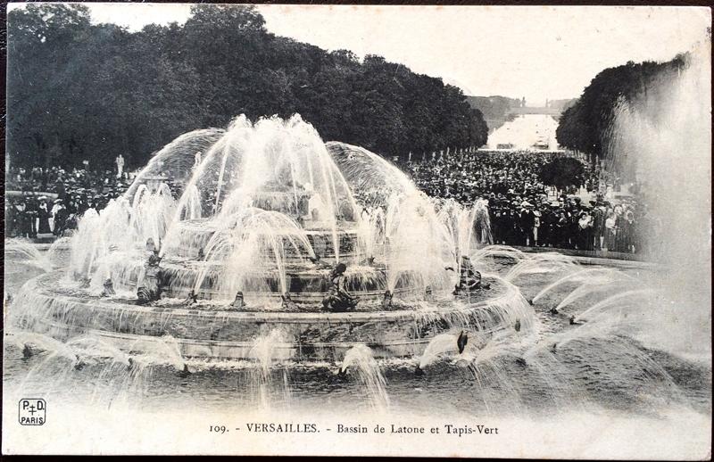 Project Postcard August 1906 Versailles France Bassin de Latone et Tapis-Vert